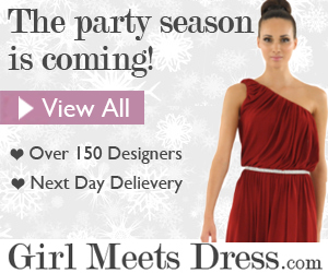 Hire a dress from Girl Meets Dress.com this Xmas