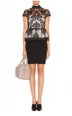 Alice + Olivia Chantilly Lace Peplum Dress1 We love Alice + Olivia dresses