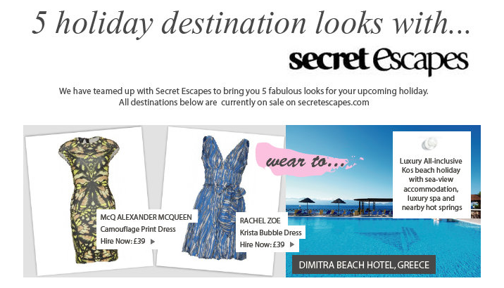 5 holiday destination looks with secret escapes Secret Escapes and your perfect holiday looks for summer