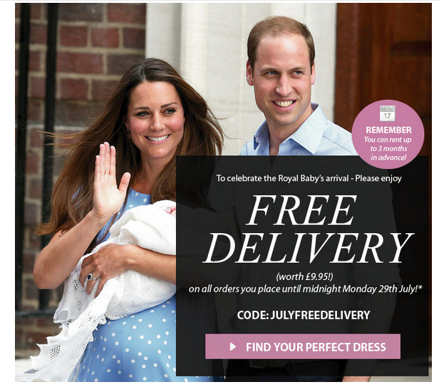free delivery A Royal Delivery for you!