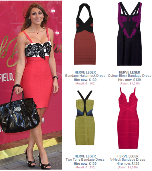 Get Luisa Zissman's celebrity look with our Herve Leger bodycon ...