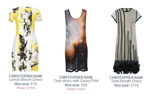 Christopher Kane dresses to hire