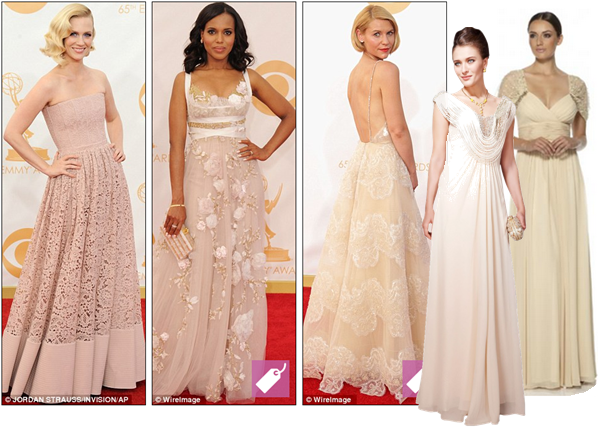 Nude ball gowns