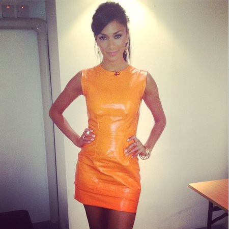 Nicole Scherzinger Orange X-Factor Dress
