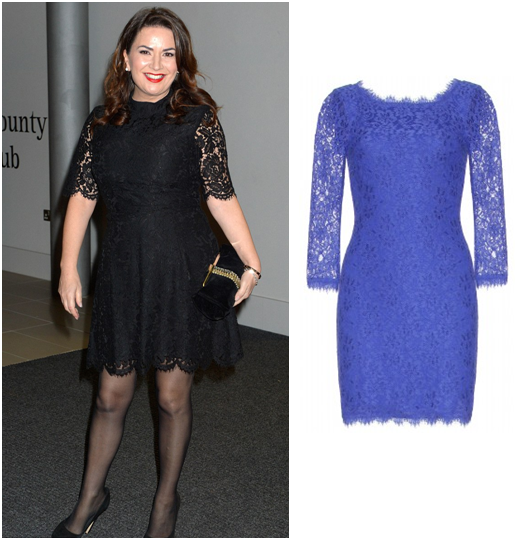 Dvf Zarita Long Lace Dress Dress on the red carpet