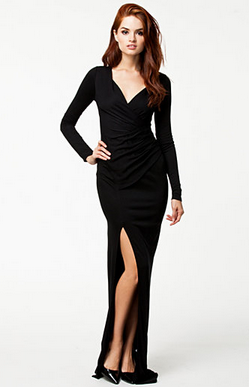 Cleo Long Black Evening Dresses to Flatter