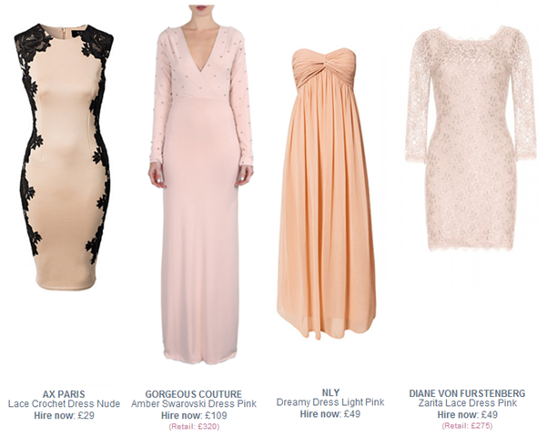 nude party dresses
