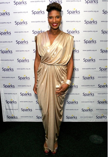 Denise Lewis Sparks Charity Ball Girl Meets Dress Gorgeous Couture 2