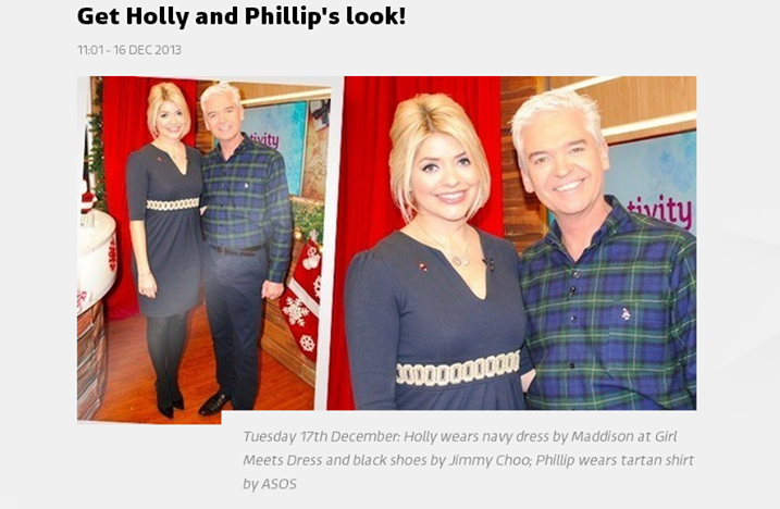 Holly Willoughby This Morning Girl Meets Dress2 Holly Willoughby Steals The Show Wearing Girl Meets Dress On This Morning