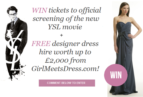 Competition2 WIN YSL movie tickets + FREE dress hire from GMD