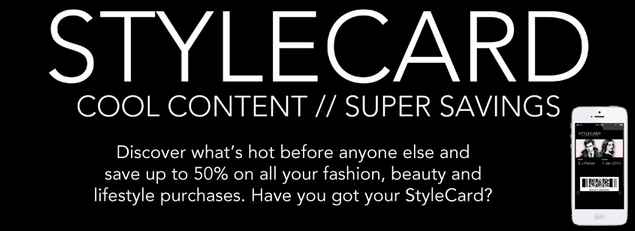 StyleCard OFFER: 50% OFF StyleCard Membership