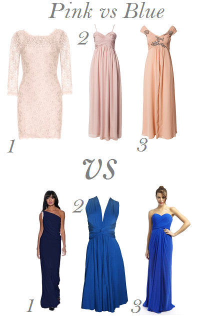 tch Bridesmaid Dresses: Pink vs Blue Special