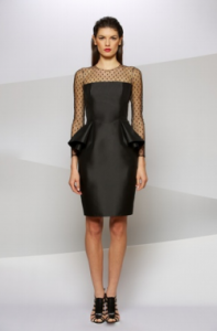 Carmen Marc Valvo 3 large 197x300 Cocktail Party Dresses with Long Sleeves: The Chill Edit
