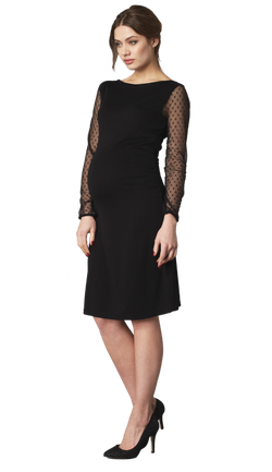 Crave Sheer Spot Sleeve Body Con Dress large The Festive Season: Maternity Dresses
