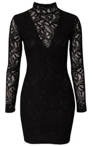 Pearl lace dressb large 192x300 Black Lace Evening Dresses: Halloween