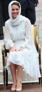 Kate Middleton wears Beulah in powder blue.