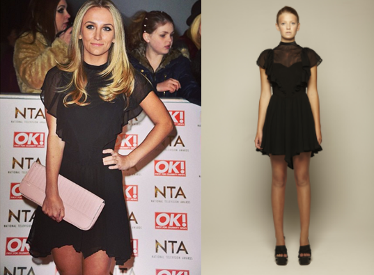 Tiffany Watson wearing the Stolen Girlfriends Club - Black Ruffle Dress from Girl Meets Dress