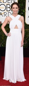 Emily Blunt wowed in a full length cut out gown