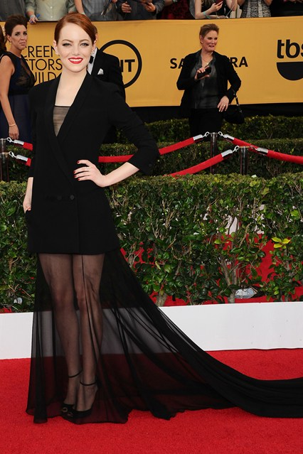 Emma Stone SAG Awards Dress Girl Meets Dress