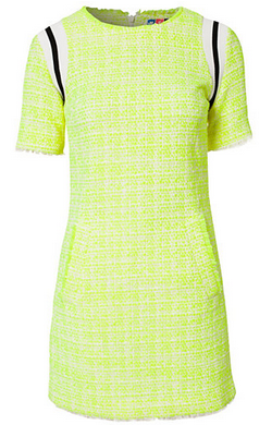 Look hot when the weather is cold. MSGM – Gloria dress. Hire this bright dress now from Girl Meets Dress