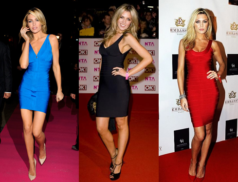 Abbey Clancy Herve Leger Dresses Girl Meets Dress