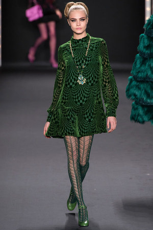 Anna Sui Dresses Cara Delevingne Girl Meets Dress
