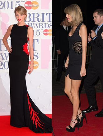 BRITS Taylor 2 The Best Dresses from The Brit Awards 2015