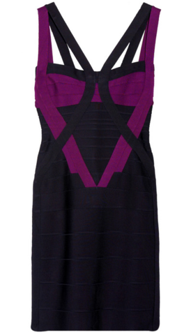 Herve Leger Colour Block Bandage Cut out Dress large Hire Herve Leger Dresses at Girl Meets Dress