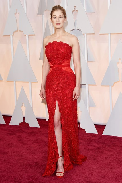Oscars Rosamund The Best of the Oscars Dresses 2015