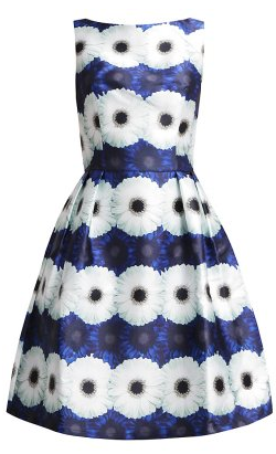 Chi Chi London Blue Flower Dress large What to wear for the Polo Match