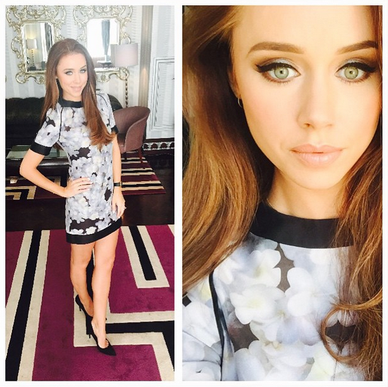 Una_Foden_hires a dress from Girl_Meets_Dress