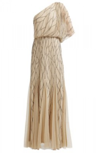 Adrianna Papell - Art Deco Shoulder Gown (Hire £109)