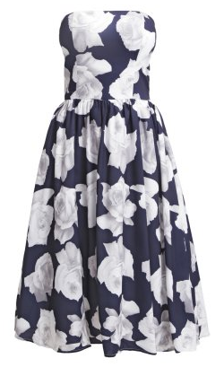 CHI CHI LONDON - Blue Flower Strapless Dress (Hire - £49)