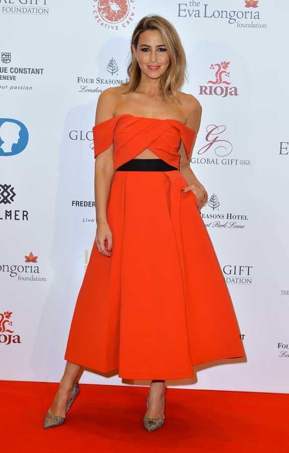 Rachel Stevens in Ayelette Cutout Dress