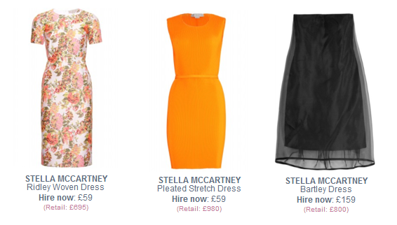 Stella McCartney dresses to hire