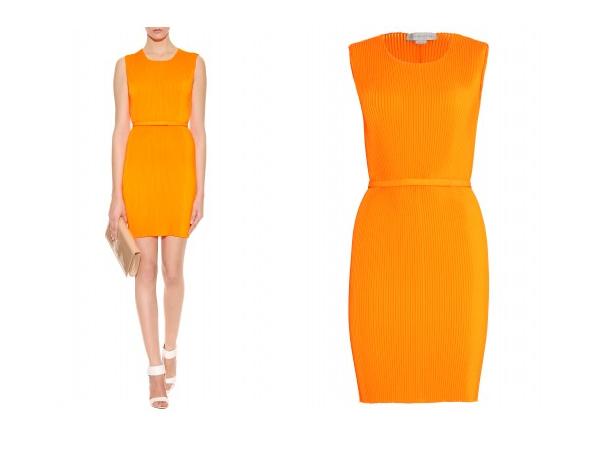 Nicole Scherzinger Orange Dress Xfactor