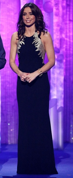 Christine Bleakley Dancing On Ice 12th January 2014 Girl Meets Dress Carmen Marc Valvo