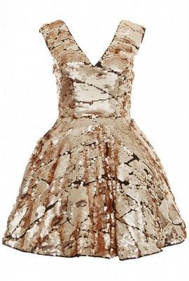 Opulence gold prom dress