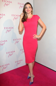 Miranda Kerr at an ESCADA Event