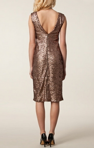 Zetterberg - Glitter Dress. Simple V at back adds detail.