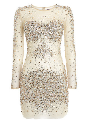 Rent the Jovani - Nude Sequin Dress as worn by Katy Perry at Girl Meets Dress!