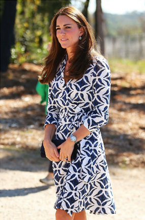 Kate Middleton Duchess of Cambridge DVF Dresses Girl Meets Dress