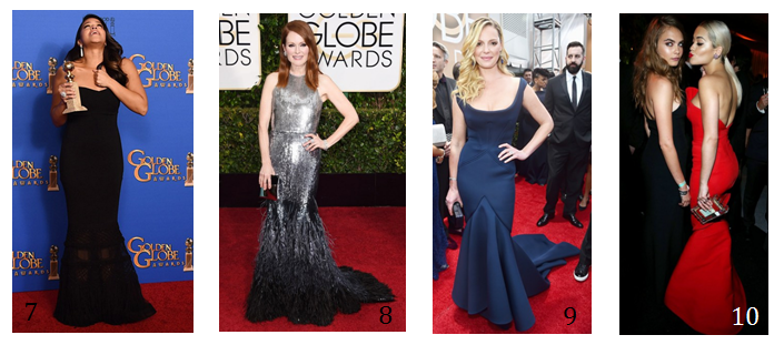 Fishtail Dresses Golden Globes Girl Meets Dress