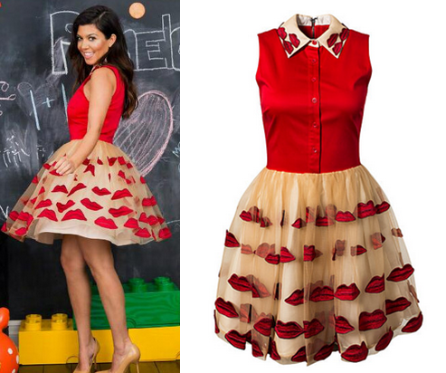 Kourtney Kardashian in Alice and Olivia - Pouf Dress available at Girl Meets Dress