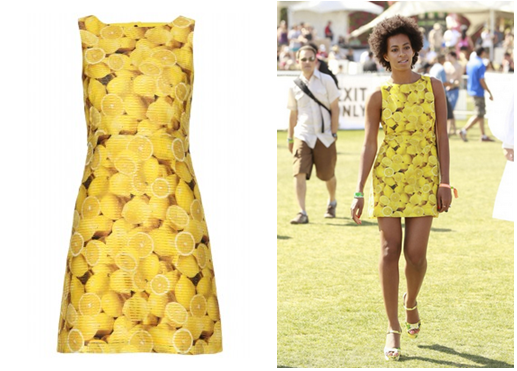 Solange Knowles wears Alice and Olivia - Candice Print Dress at Coachella
