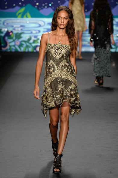 Anna Sui Dresses Joan Smalls Girl Meets Dress