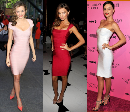 Miranda Kerr Herve Leger Dresses Girl Meets Dress