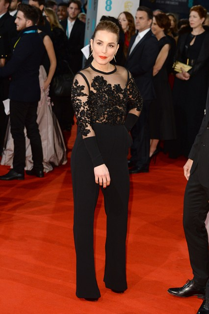 Noomi Rapace BAFTA Jumpsuit Girl Meets Dress