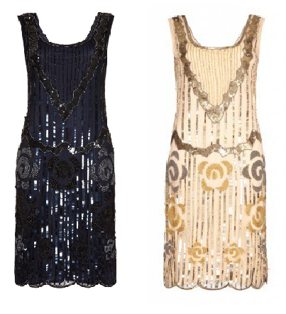 Audrey Navy Flapper Dress £85 Audrey Blush Flapper Dress £85