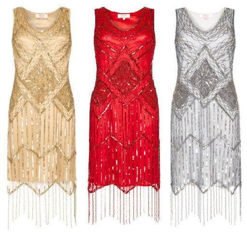 Isobel Gold Fringe Dress £85 Isobel Red Fringe Dress £85 Isobel Silver Fringe Dress £85